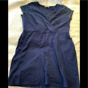Loveappella navy dress lace cap sleeve 18W/2X